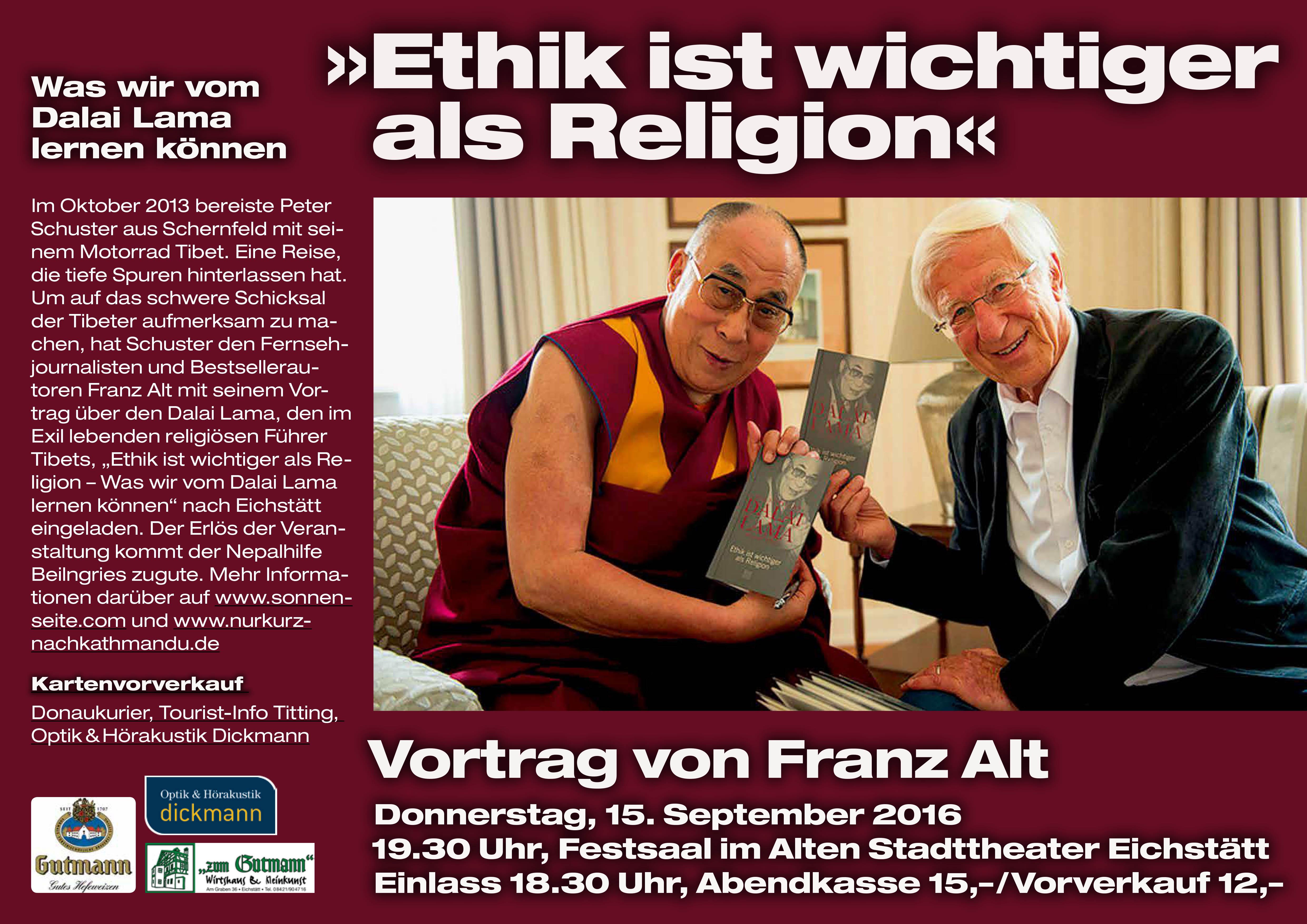 Plakat Alt-Dalai-Lama